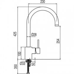 Monomando fregadero vertical MAX