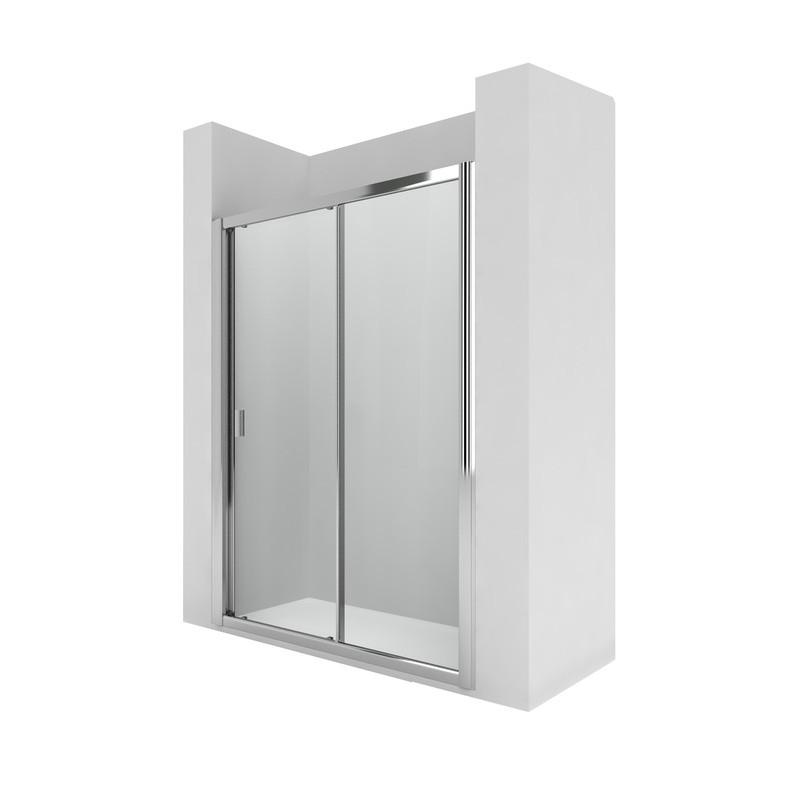 L2e mampara de ducha con una puerta corredera for Instalar una mampara de ducha