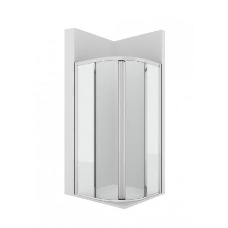 Cuartocircular ducha con dos puertas correderas